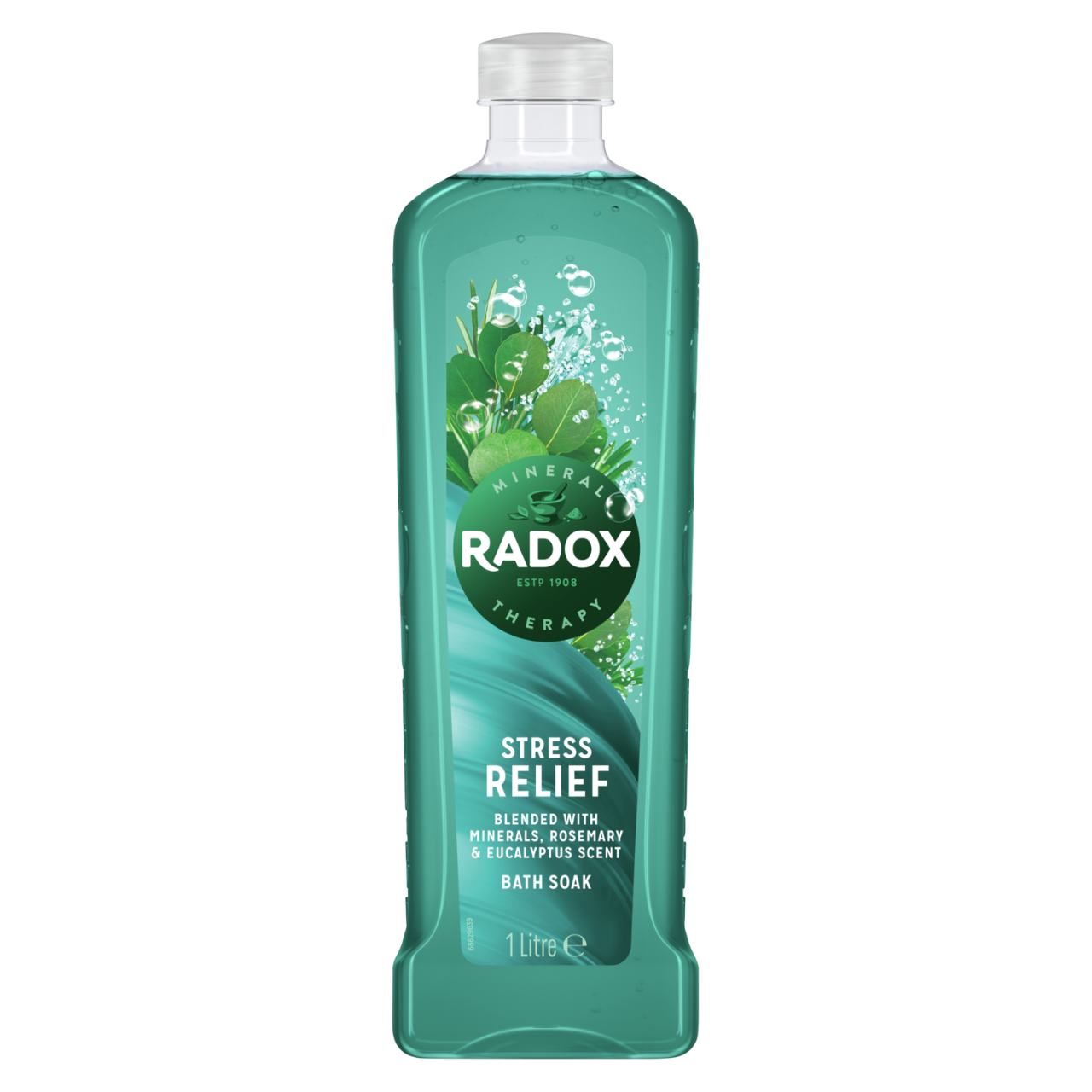 JPEG - Radox Stress Relief uniquely blended with minerals & herbs Bath Soak for a soothing bubble bath 1000 ml