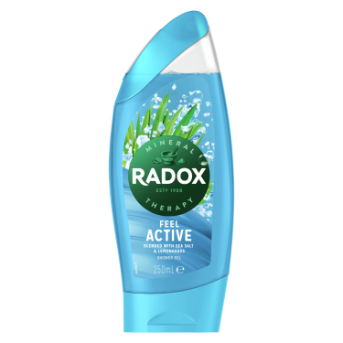 Radox Feel Active dermatologically tested Shower Gel for fresh and clean feeling skin 250ml