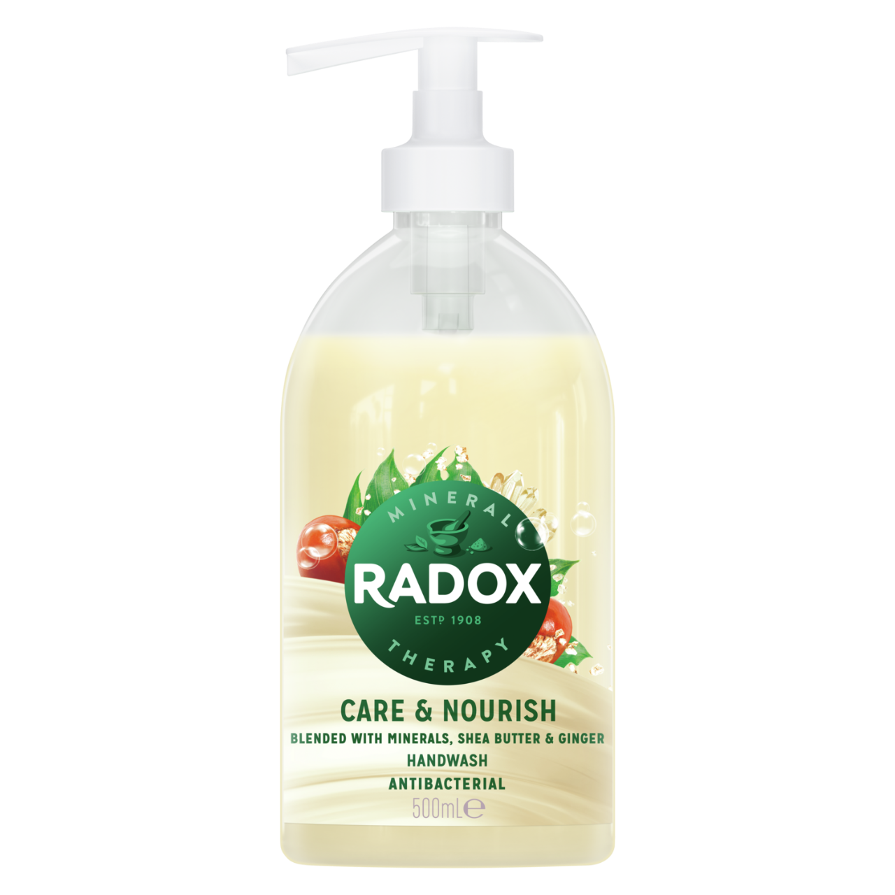 Radox Care + Nourish hard on germs, gentle on hands Antibacterial Handwash moisturising 500 ml
