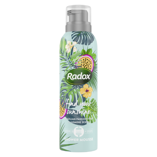 Radox-English Strawberry (Limited Edition) SHOWERFOAM-CAN-200ml-UK IE-